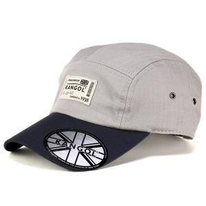キャップ メンズ カンゴール ブランド ジェットキャップ ストリート コットン ヘリンボーン バイカラー 2トーン 銀 グレー アージェント|elehelm-hatstore
