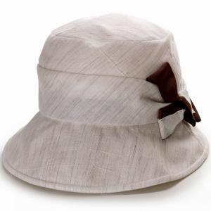 キレットリネン オブザーハット エリートシャポー 帽子 レディース UV対策 ハット 小さい 紫外線対策 ELITE CHAPEAU サイズ調整可能 手洗い可能  ベージュ|elehelm-hatstore