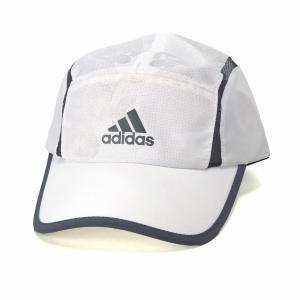 シャカシャカ素材 シンプル アディダス カモ柄 ランニングキャップ 帽子 メンズ オールシーズン スポーツ adidas  cap/白 ホワイト|elehelm-hatstore