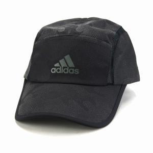 アディダス カモ柄 ランニングキャップ 帽子 メンズ オールシーズン スポーツ シャカシャカ素材 シンプル adidas  cap/黒 ブラック|elehelm-hatstore