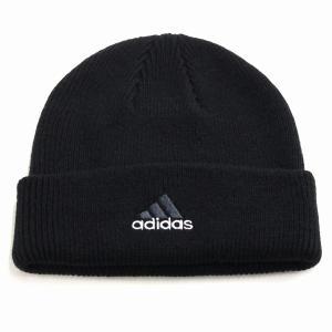 オールシーズン 折り返し ニットワッチ 帽子 アディダス メンズ ニット メンズ adidas cap ニット帽 レディース/黒 ブラック|elehelm-hatstore