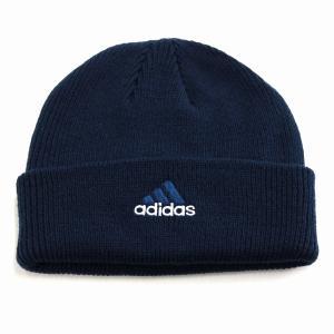 折り返し ニットワッチ ニット帽 レディース 帽子 アディダス メンズ ニット メンズ adidas cap オールシーズン/紺 ネイビー|elehelm-hatstore