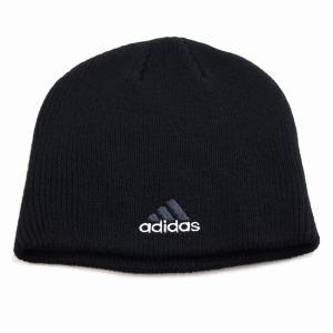 2トーン ビーニー メンズ 秋冬 帽子 アディダス メンズ ニット メンズ ブランドロゴ adidas ニット帽 レディース/黒 ブラック|elehelm-hatstore