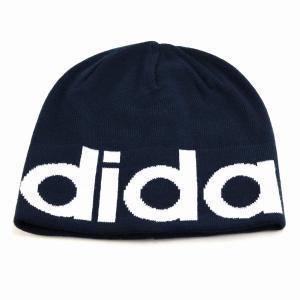 ブランドロゴ adidas ニット帽 レディース 2way ビーニー 秋冬 折り返し ニットワッチ 帽子 アディダス メンズ ニット メンズ/紺 ネイビー|elehelm-hatstore