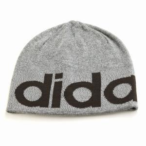 折り返し ニットワッチ 帽子 アディダス メンズ ブランドロゴ adidas ニット帽 レディース 2way ビーニー 秋冬 ニット メンズ/グレー|elehelm-hatstore