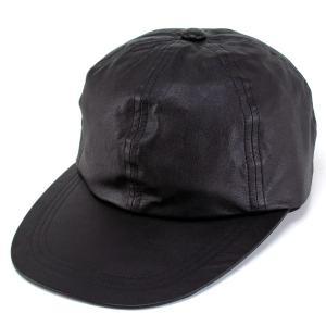 キャップ メンズ 帽子 ロングブリム 秋冬 シープスキン オリジナルデザイン ブラック