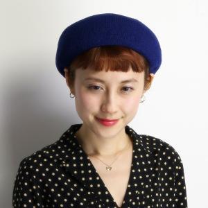 ベレー帽 春夏 レディース 帽子 メンズ ベレー チョボ付 サマーニット 夏らしい シンプルサマーベレー ブルー|elehelm-hatstore