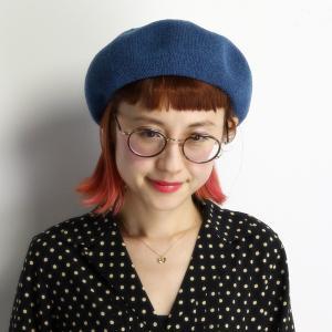 ベレー帽 メンズ 春夏 レディース 帽子 ベレー チョボ付 サマーニット 夏らしい シンプルサマーベレー マリンブルー|elehelm-hatstore
