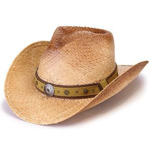 帽子 テンガロンハット 夏 帽子 麦わら ブランド ヘンシェル スタッズ ハット ラフィア|elehelm-hatstore
