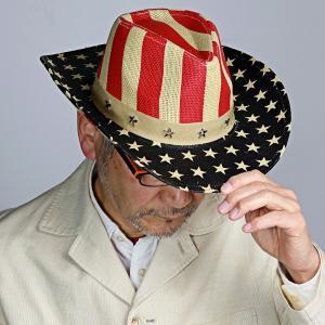 帽子 メンズ レディース テンガロンハット アメリカ 星 春夏 ヘンシェル 星条旗 中折れ帽 カウボーイ ハット 衣装 HENSCHEL ブランド ウエスタン ナチュラル|elehelm-hatstore