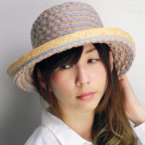 レディースハット 日よけ ブレードハット ハット 帽子 夏 レジャー お洒落 ロベルトイデア 女性 オレンジ|elehelm-hatstore