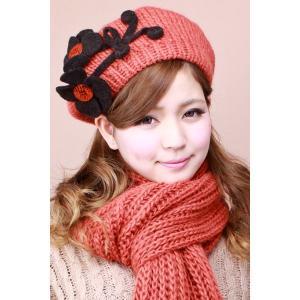 ベレー帽 レディース プレゼント 女性に人気のブランド ロベルトイデア マフラー&ベレー オレンジ|elehelm-hatstore