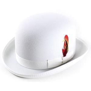 New York Hat ニューヨークハットDELUXE WOOL FELT DERBYHAT HAT ホワイト 白 elehelm-hatstore