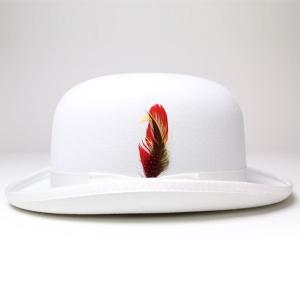 New York Hat ニューヨークハットDELUXE WOOL FELT DERBYHAT HAT ホワイト 白 elehelm-hatstore 02