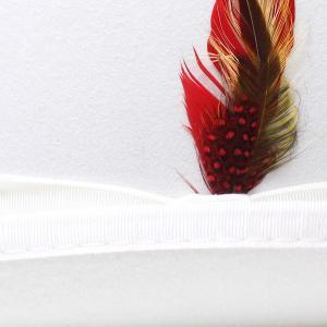 New York Hat ニューヨークハットDELUXE WOOL FELT DERBYHAT HAT ホワイト 白 elehelm-hatstore 05