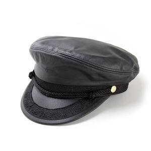 帽子 キャップ メンズ レディース レザーマリンキャップ ヘンシェル 本革 アメリカ 7932-60|elehelm-hatstore