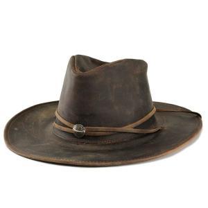 ハット メンズ ハット 帽子 本革カウボーイハット アメリカ 1151-75 ヘンシェル社製 濃茶|elehelm-hatstore