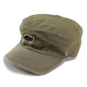 帽子 メンズ USA ヘンシェル社製 ミリタリー ダメージ加工 ワークCAP カーキ|elehelm-hatstore