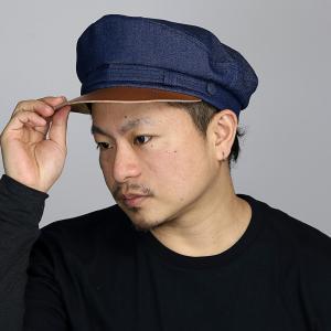 デニム キャップ マリン 帽子 メンズ レディース NEW YORK HAT 綿100% ニューヨークハット カジュアル マリンキャップ 春 夏  爽やか インディゴ ブルー|elehelm-hatstore