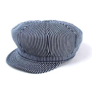 メンズ ハット ニューヨークハット New York Hat ヒッコリーストライプ キャスケット レディース 帽子 Hickory Stripe 6305 紺 ネイビー|elehelm-hatstore