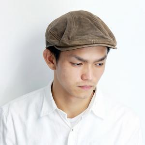 本革 ハンチング レザー HENSCHEL メンズ 牛革 ハンチング帽 ヴィンテージ ヘンシェル 帽子 大きいサイズ 秋冬 レディース アイビーキャップ 茶 ブラウン|elehelm-hatstore