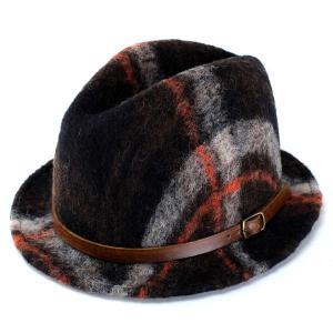 ハット 帽子 メンズ ハット フェルトハット bousi 起毛 ブランド TESI シックデザイン ブラウン|elehelm-hatstore
