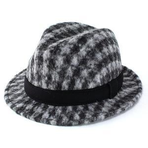 帽子 メンズ ハット 秋冬 ハット 中折れハット テシ セレクトショップ取り扱い 起毛感のあるフェルト ブラック ホワイト|elehelm-hatstore
