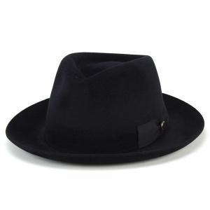 帽子 ハット メンズ テシ イタリア ラビットファー フェルト 中折れ帽 トレンド 高級 ブラック|elehelm-hatstore