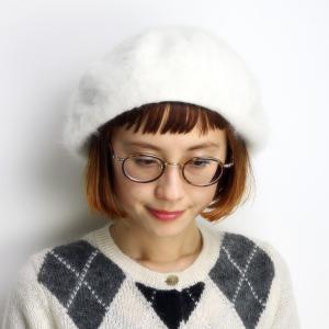 新色 帽子 レディス レディース 柔らかゆったり 大きめシルエットで人気の型 国産ベレー ホワイト|elehelm-hatstore