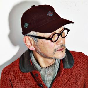 Borsalino キャップ 秋冬 帽子 コーデュロイ ボルサリーノ メンズ 6方キャップ コール天 エンジ|elehelm-hatstore