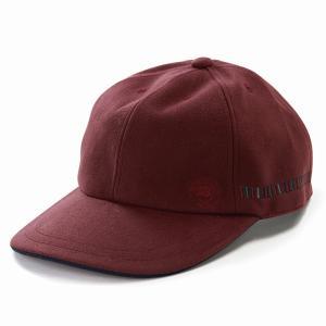 スエード調 キャップ ボルサリーノ 帽子 ブランド メンズ 野球帽 紳士 日本製 秋冬 Borsalino ベースボールキャップ お洒落 赤 レッド|elehelm-hatstore