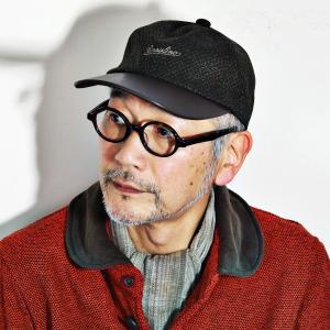秋冬 レザー キャップ Borsalino 帽子 メンズ 牛革 6方キャップ ボルサリーノ オリーブ|elehelm-hatstore