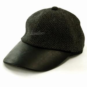 牛革 6方キャップ ボルサリーノ レザー 秋冬 帽子 メンズ Borsalino キャップ グレー|elehelm-hatstore