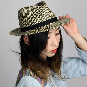 Bailey 帽子 メンズ レディース 春夏 中折れ ハット パナマ 帽子 ベイリー インポート パナマハット シェブロン パナマ帽 Milo ブラック ナチュラル|elehelm-hatstore