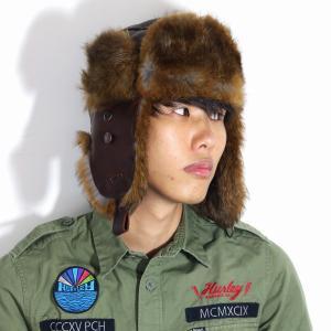 秋 冬 Bailey フライトキャップ 飛行帽 イヤーフラップ 帽子 ベイリー レザー ラムスキンレザー ラビットファー メンズ レディース インポート 茶 ブラウン elehelm-hatstore
