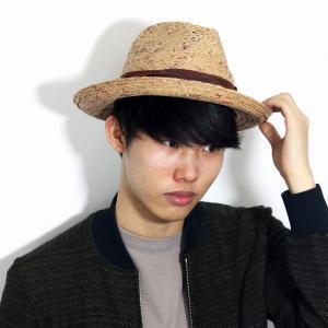 BROOKLYN HAT 麦わら帽子 ラフィア ハット 中折れ 帽子 ブルックリンハット リゾート ストロー ハット メンズ レディース 春 夏 ナチュラル ティー|elehelm-hatstore