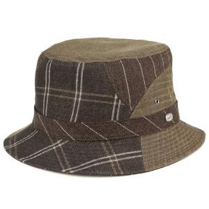 バケットハット 夏の帽子 ボルサリーノ メンズ カメラマンハット パッチワーク 麻 毛 サファリ アウトドア ハット borsalino 茶 ブラウン|elehelm-hatstore