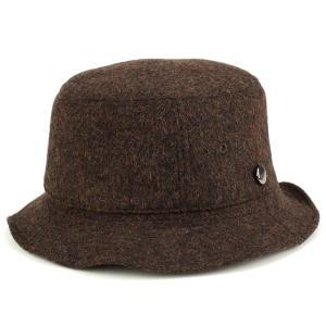 バケットハット 秋冬 ボルサリーノ ダブルフェイスフラノ サファリ カメラマン borsalino 茶 ブラウン|elehelm-hatstore