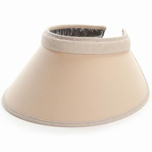 リカエナ サンバイザー レディース カラーワイズメッシュ ツバ広 クリップバイザー 紫外線対策 UV対策 日本製 帽子 手洗い可能  バイザー 送料無料 ベージュ|elehelm-hatstore