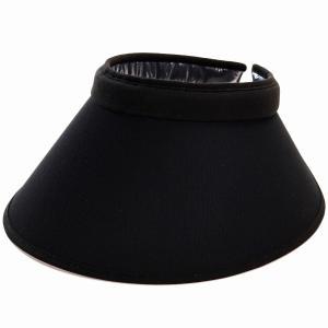 ツバ広 クリップバイザー 紫外線対策 サンバイザー レディース リカエナ カラーワイズメッシュ UV対策 日本製 帽子 手洗い可能  バイザー 送料無料 黒 ブラック|elehelm-hatstore