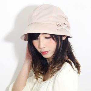 紫外線対策 日よけ UVカット 春 夏 帽子 レディース 8方キャスケット リボン しわ加工 コットン キャスケット 婦人 シンプル 無地 日本製 ピンク|elehelm-hatstore