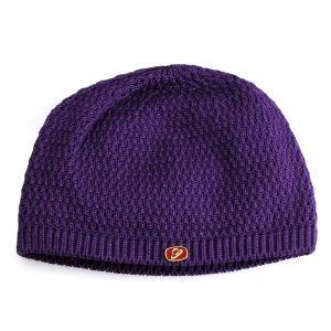 ニット帽 メンズ 帽子 ボルサリーノ ショートワッチ パープル|elehelm-hatstore