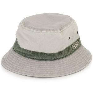 紫外線 予防 サファリ ハット メンズ レディース UV カット コットン 帽子 サハリ ユニセックス 春夏 PINNELLO型 MISTRAL フランス製 綿 ミストラル カーキ|elehelm-hatstore