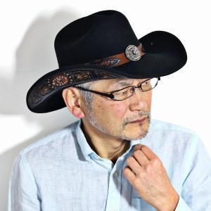 本格 カウボーイ ハット 高級 帽子 100X ウール フェルト 秋冬 テンガロンハット California Hat Company Inc. メンズ カリフォルニアハット 黒 ブラック|elehelm-hatstore