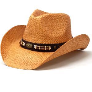 メンズ 帽子 レディース California Hat Company Inc. アメリカ ウエスタンハット ペーパー 中折れ 春夏 ハット カリフォルニアハット カウボーイ 茶 ブラウン|elehelm-hatstore
