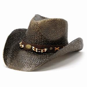 ペーパー 中折れ メンズ 帽子 レディース California Hat Company Inc. アメリカ ウエスタンハット 春夏 ハット カリフォルニアハット カウボーイ 黒 Dブラウン|elehelm-hatstore