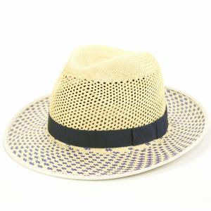 パナマハット CHRISTYS' LONDON 帽子 クリスティーズ ロンドン 中折れ帽 春夏 パナマ帽 レディース メンズ ハット インクブルー×ナチュラル ネイビー ベージュ|elehelm-hatstore