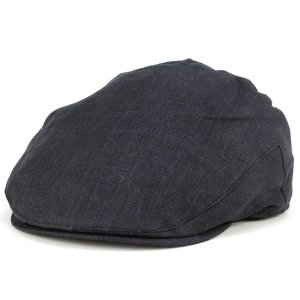 クリスティーズ ロンドン 帽子 リネン デニム 亜麻 ハンチング 春夏 お洒落 christys ivycap 黒 ブラック|elehelm-hatstore