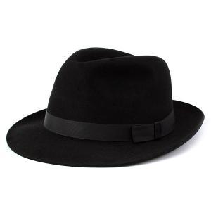 クリスティーズ ファーフェルト ハット CHRISTYS' LONDON Epsom Fur Felt 秋冬 メンズ 帽子 レディース 黒 ブラック|elehelm-hatstore