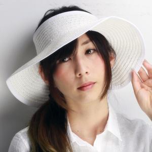ドーフマンパシフィック ハンドメイド サンバイザー つば広 春夏 バイザー 帽子 Cappelli カペリ リゾート ホワイト|elehelm-hatstore